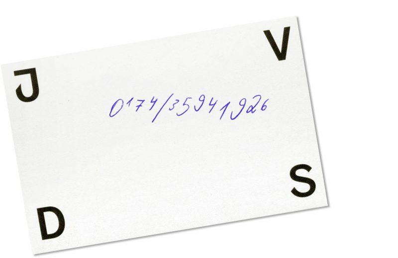 - Visitenkarte